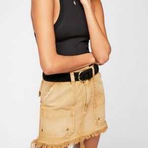 Free People Canvas Relaxed Mini Skirt Size 28